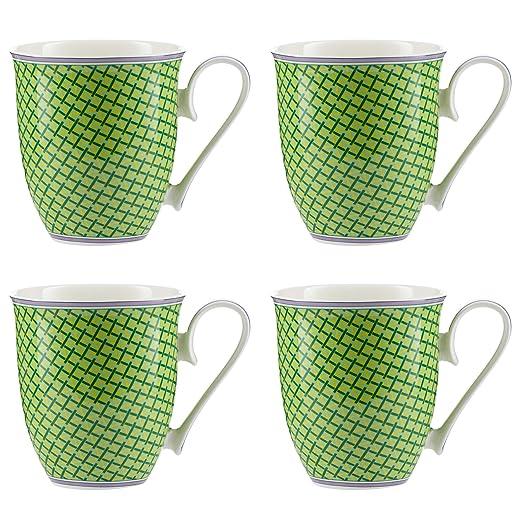 Jameson & Tailor - Juego de 4 Tazas Mugs de porcelana brillante ...