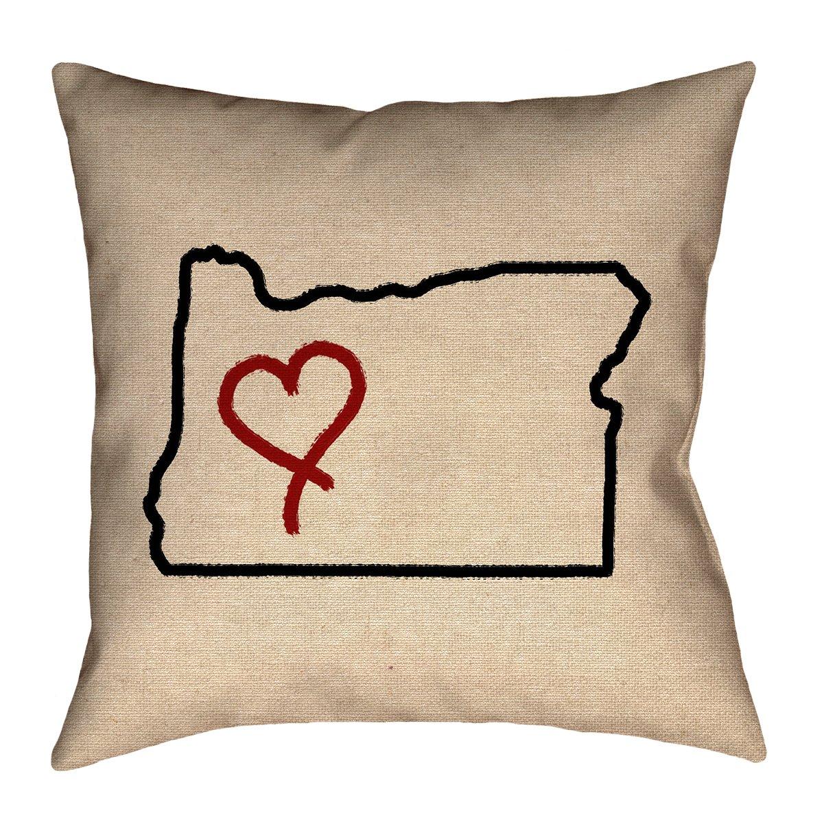 ArtVerse Katelyn Smith 18 x 18 Spun Polyester Oregon Love Pillow