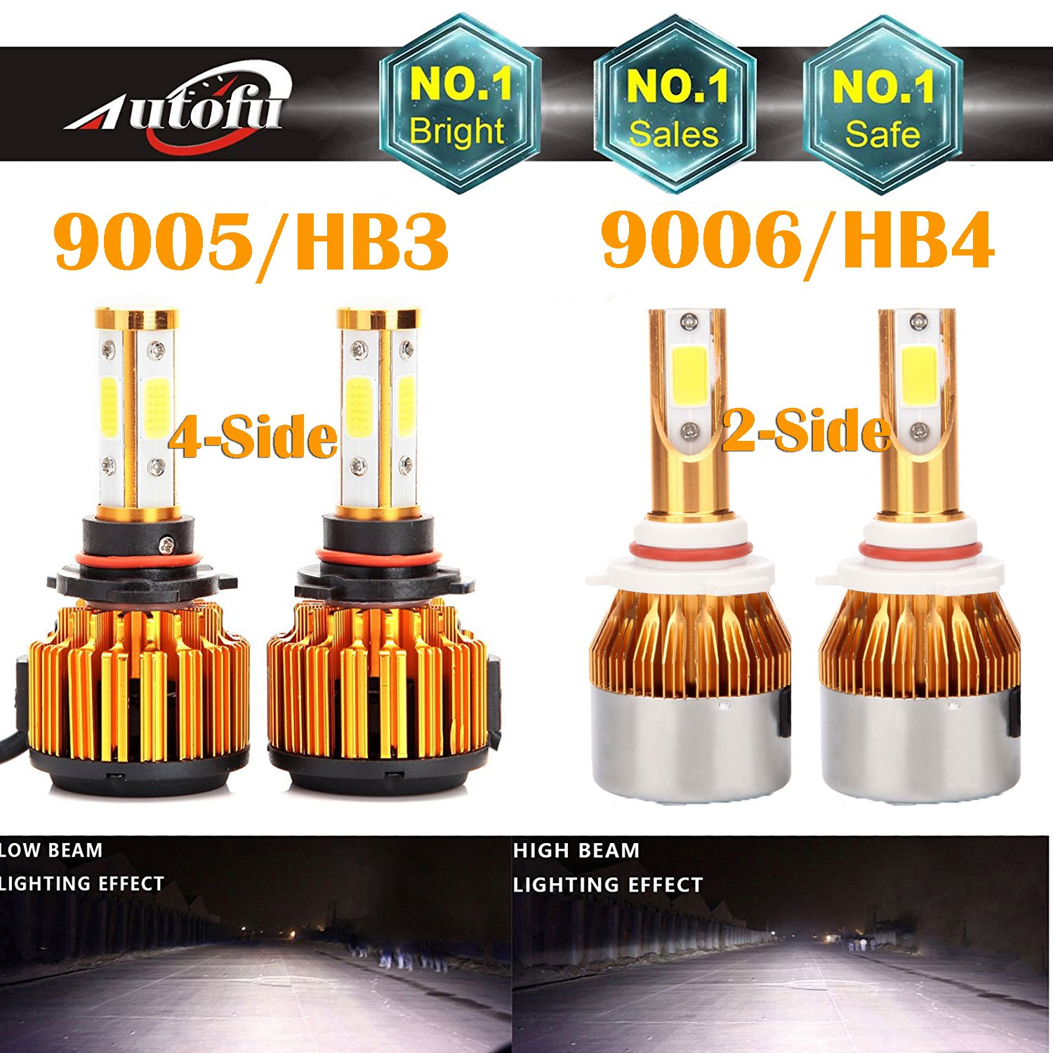 9005 And 9006 Led Headlight Bulbs 6000k White High Low How To Install An Electric Fan Pics Ford Explorer Ranger Forums Beam Combo Set Super Bright For Chevrolet Silverado 1500 Gmc Chevy Tahoe Dodge Chrysler Fog Lamp Package Of 4 Automotive