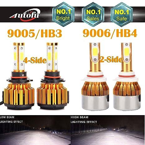 81FEay sXmL._SX466_ amazon com 9005 and 9006 led headlight bulbs 6000k white high low
