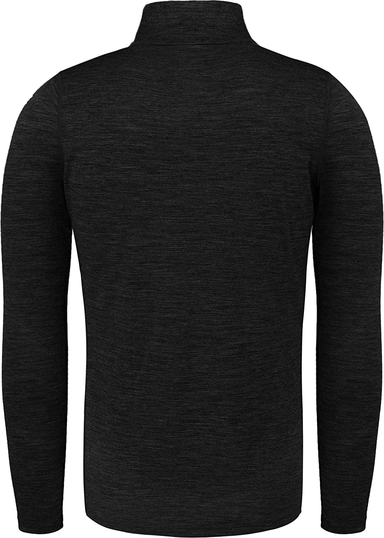 normani Herren Merino Unterhemd Premium Oberteil Rundhalsausschnitt Funktionsoberteil 100/% Merinowolle Thermounterw/äsche Baselayer Skipullover