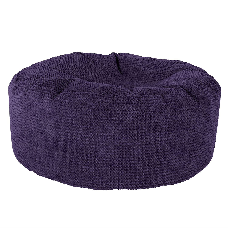 Lounge Pug®, Sitzhocker Pouf, Sitzpouf, Pom-Pom Lila