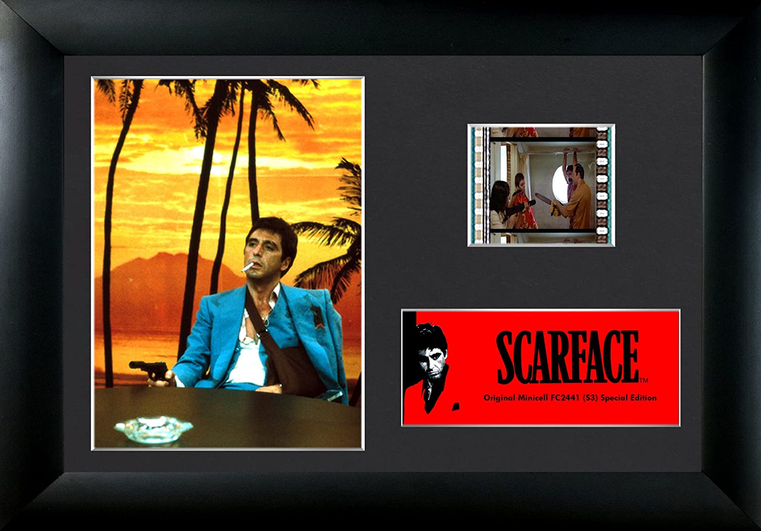 Scarface (Tony Montana - Every Dog Has Its Day) Authentic 35mm Film Cells Special Edition MiniCell Display