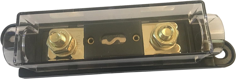 KOLACEN ANL Gold Plated Fuse 150 Amp ANL Fuse Holder Black 1 Pack