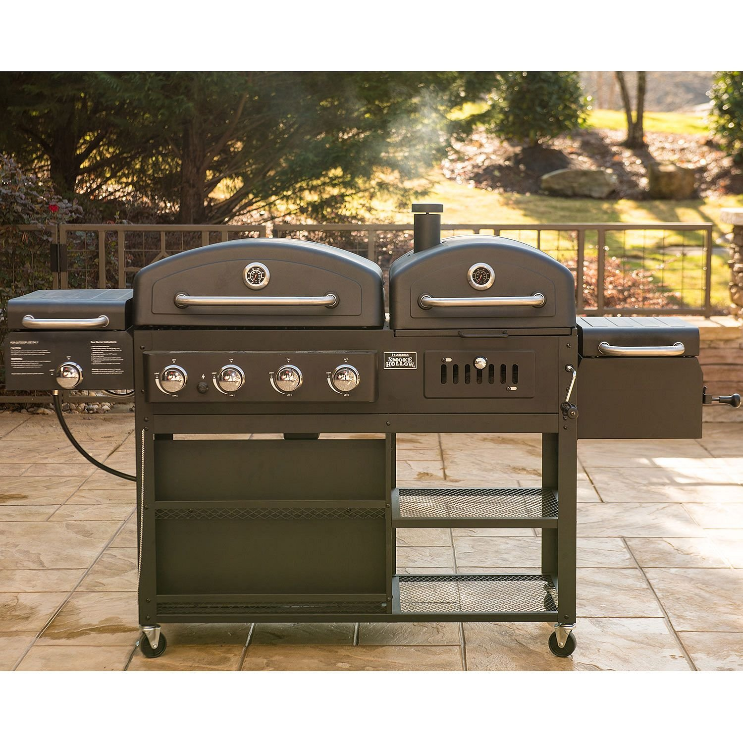 Smoke Hollow 4-in-1 LP Gas Charcoal Smoker Searing BBQ Grill Model PS9900