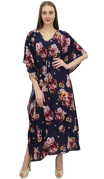 7f21628334a1 Bimba Blu caftano caftano stampata floreale kimono estivo maxi- delle  donne-36