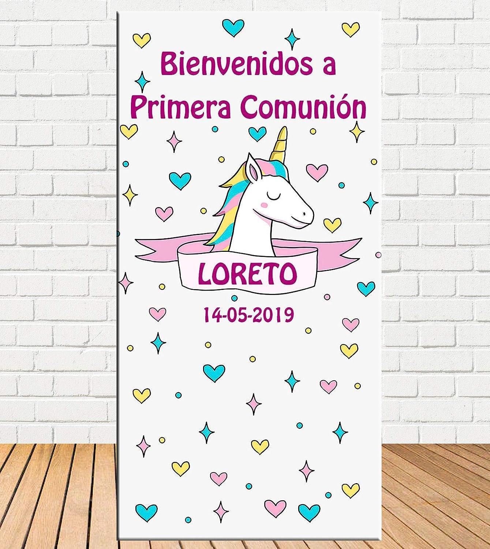 Tu Fiesta Mola Mazo Cartel de comunión de niña Unicornio ...