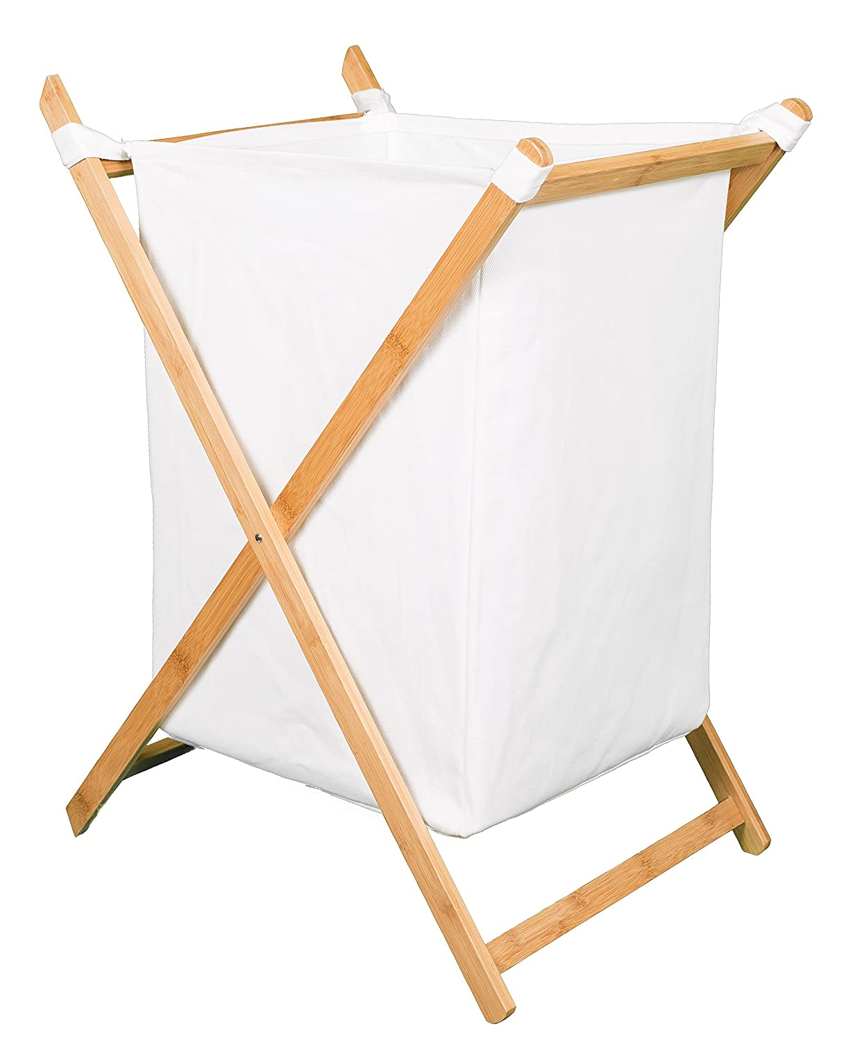 BirdRock Home X Bamboo Hamper | Made of Natural Bamboo | Includes Machine Washable Cotton Canvas Liner | Lightweight for Easy Transportation 6559