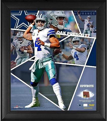 3cdf2d336 Dak Prescott Dallas Cowboys Framed 15 quot  x 17 quot  Impact Player  Collage with a Piece