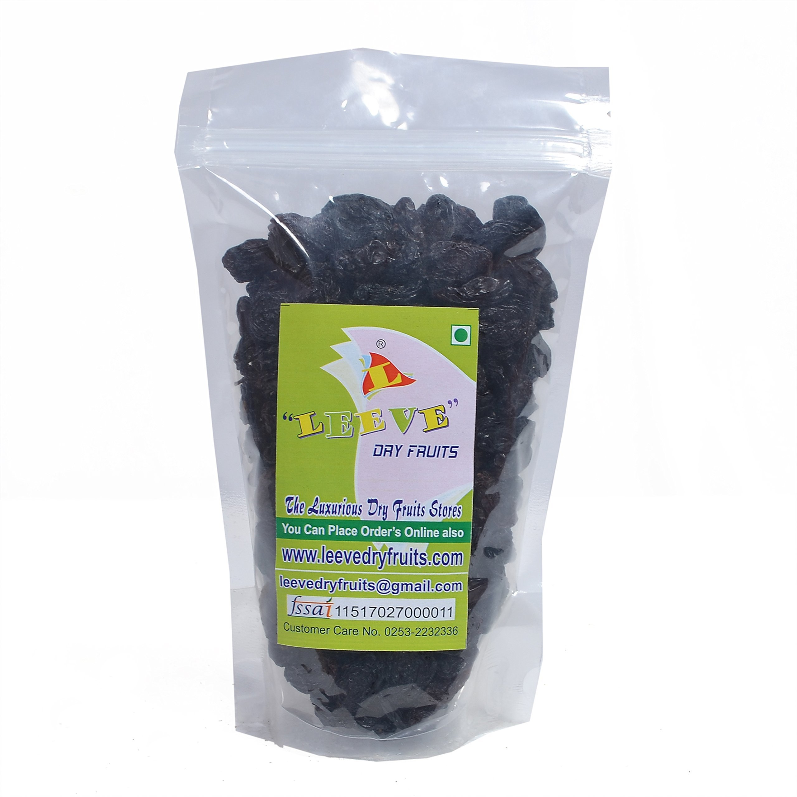 Leeve Dry Fruits Seedles Black Raisins 400 Gms