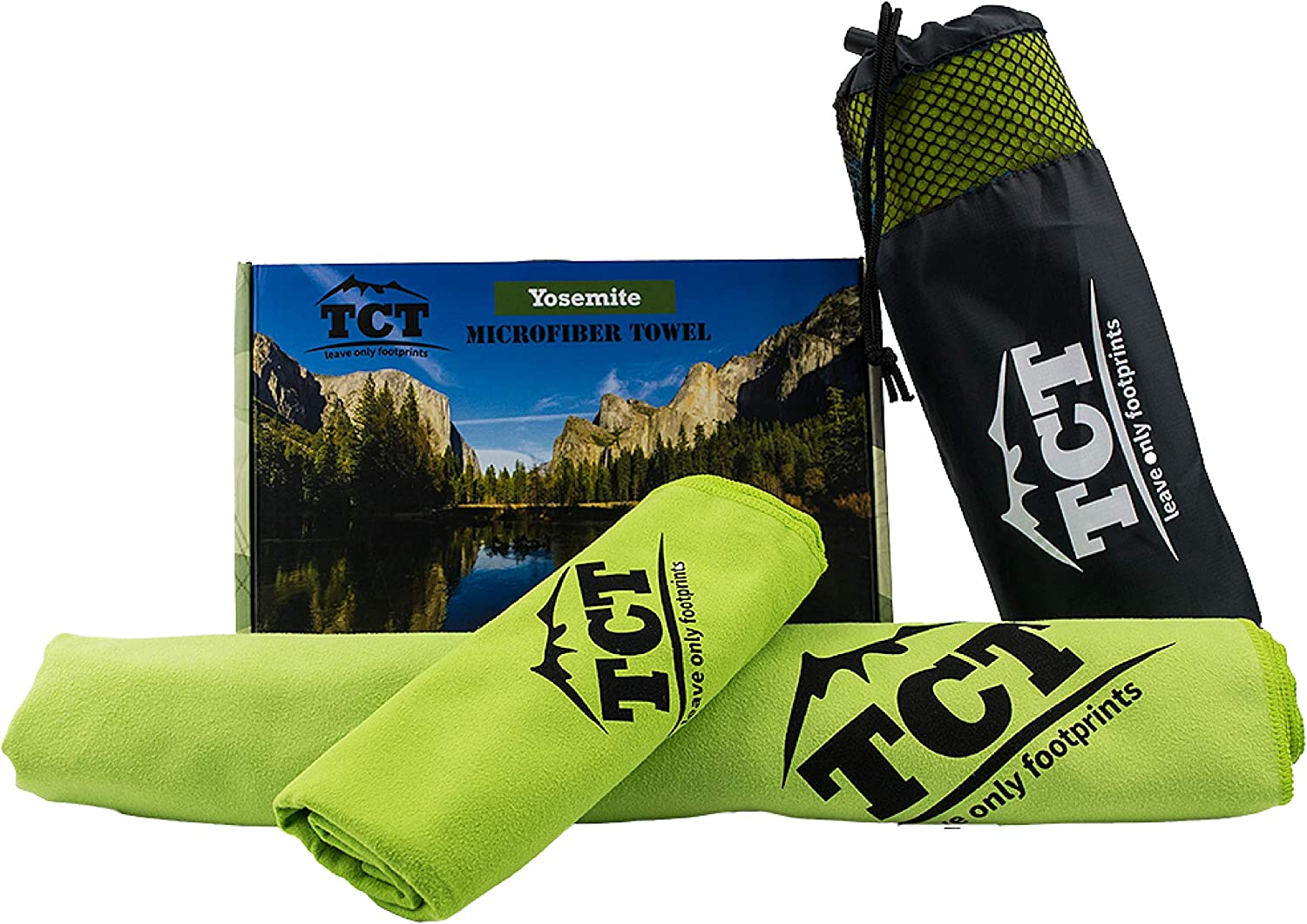 The Camping Trail Lightweight Camping Towel Set