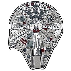 """Star Wars Large Millenium Falcon Rug, 59"""" L x 79"""" W"""