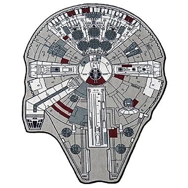 Star Wars Large Millenium Falcon Rug, 59  L x 79  W