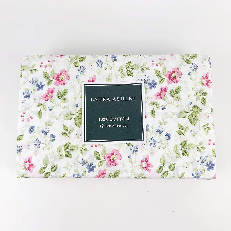 Laura Ashley Queen sheet set (Spring Bloom Pink)