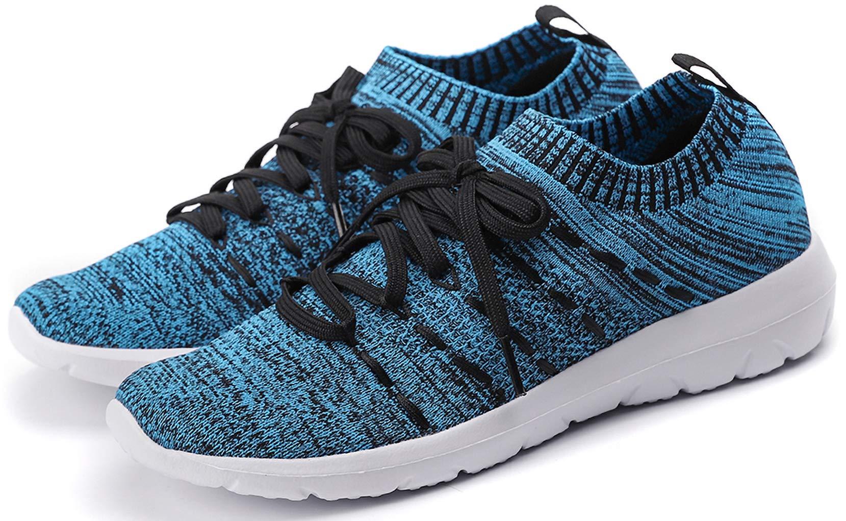 PromArder Women's Walking Shoes Slip On Athletic Running Sneakers Knit Mesh Comfortable Work Shoe