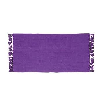 New Top Lirette / petit tapis à franges 60x120cm Violet - Alinea x60 ...