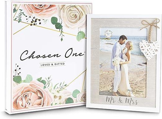Mr /& Mrs Silver Glass Mirror Light Up Box Wall Plaque Wedding Gift Idea