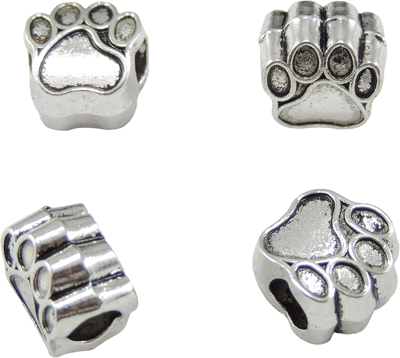 5//10Pcs Tibetan Silver big hole European Charm animals Bead Findings