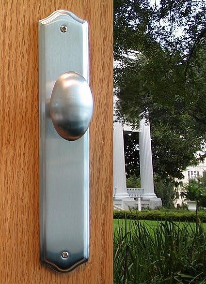 Attractive Dummy Door Knob Handle U0026 Escutcheon Back Plate Tara For Inactive Double  Doors Or Closet Doors