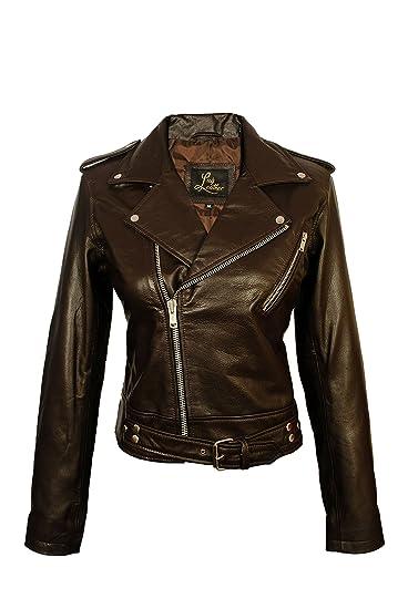 Sid Women S Lambskin Leather Biker Black Jacket At Amazon Women S
