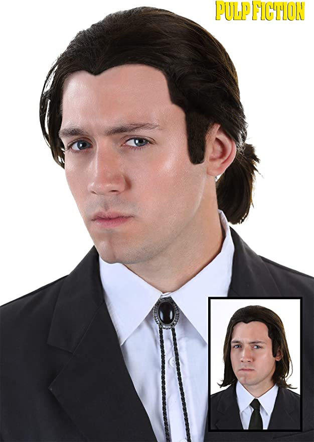 Fun Costumes Pulp Fiction Vincent Vega Wig and Bolo Tie Set ...
