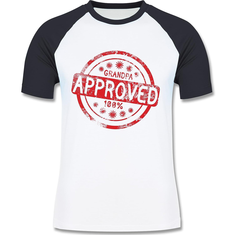 beVintage Großeltern - Grandpa Approved - L140 Männer Raglan Baseball Shirt:  beVintage: Amazon.de: Bekleidung