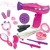 BETTINA Little Girls Beauty Hair Salon Toy Kit with Toy Hairdryer, Mirror & Other Accessories, Fashion Pretend Makeup…