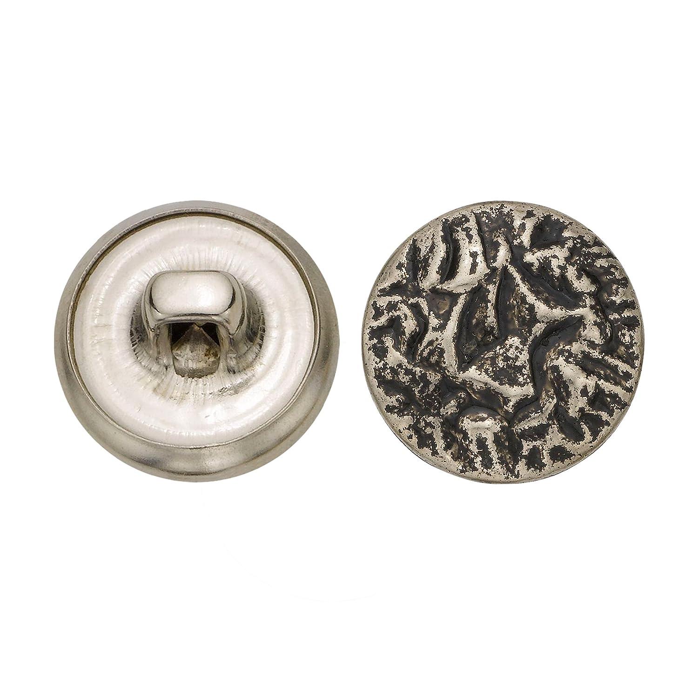C/&C Metal Products 5065 Crunch Metal Button 72-Pack Antique Nickel Size 24 Ligne