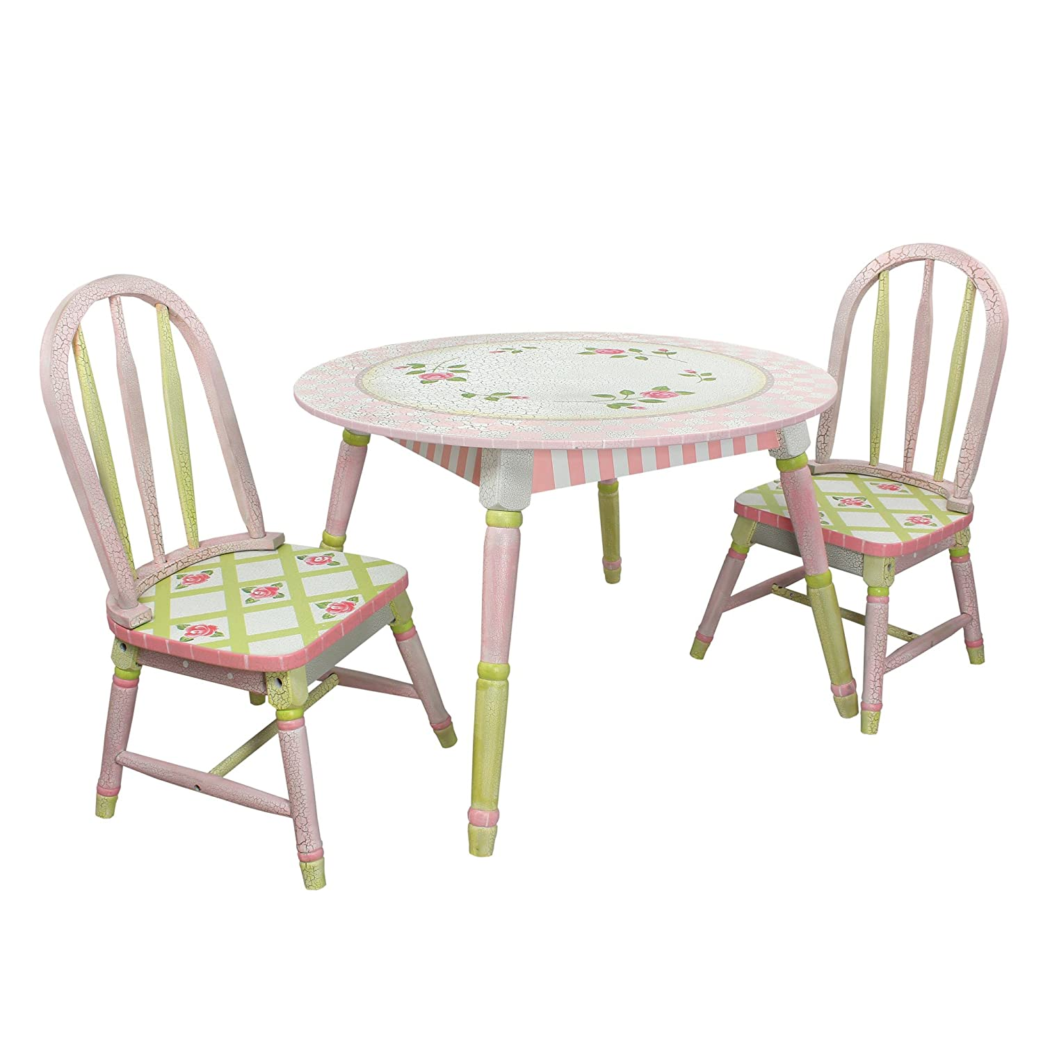 Amazoncom Fantasy Fields Crackled Rose Thematic Hand Crafted Kids - Wayfair kids table and chairs