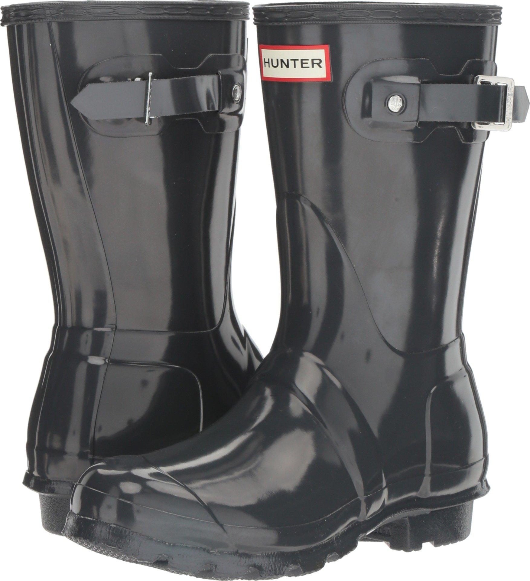 Hunter Women's Original Short Gloss Rain Boots, Dark Slate, 11 B(M) US
