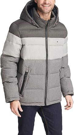 RRP £150 TOMMY HILFIGER COAT Dark Navy Blue Quilted Puffer Jacket 90/%Down MEDIUM