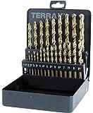 Terrax A 215325 - Juego de brocas helicoidales (cobalto, 25 unidades)