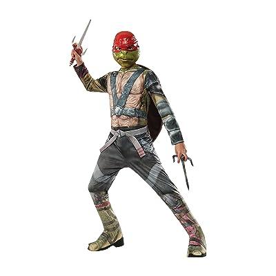 Rubie's Costume Kids Teenage Mutant Ninja Turtles 2 Value Raphael Costume, Medium: Clothing