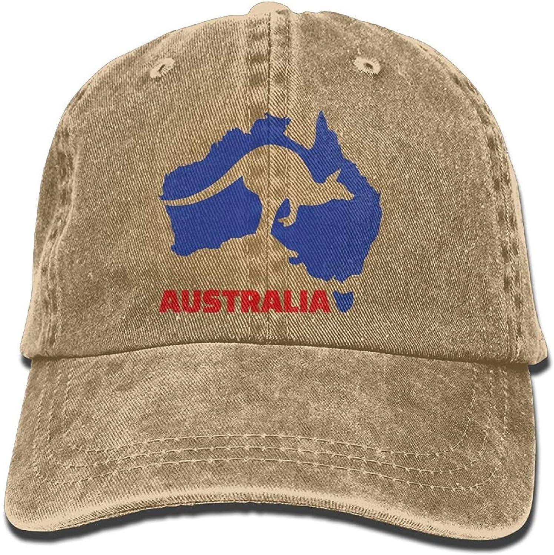 Presock Gorras De Béisbol Arsmt Australia Kangaroo Denim Hat Adjustable Mens Flag Baseball Cap