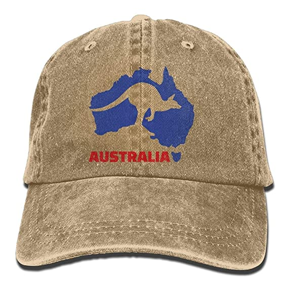 Presock Gorras De Béisbol Arsmt Australia Kangaroo Denim Hat ...