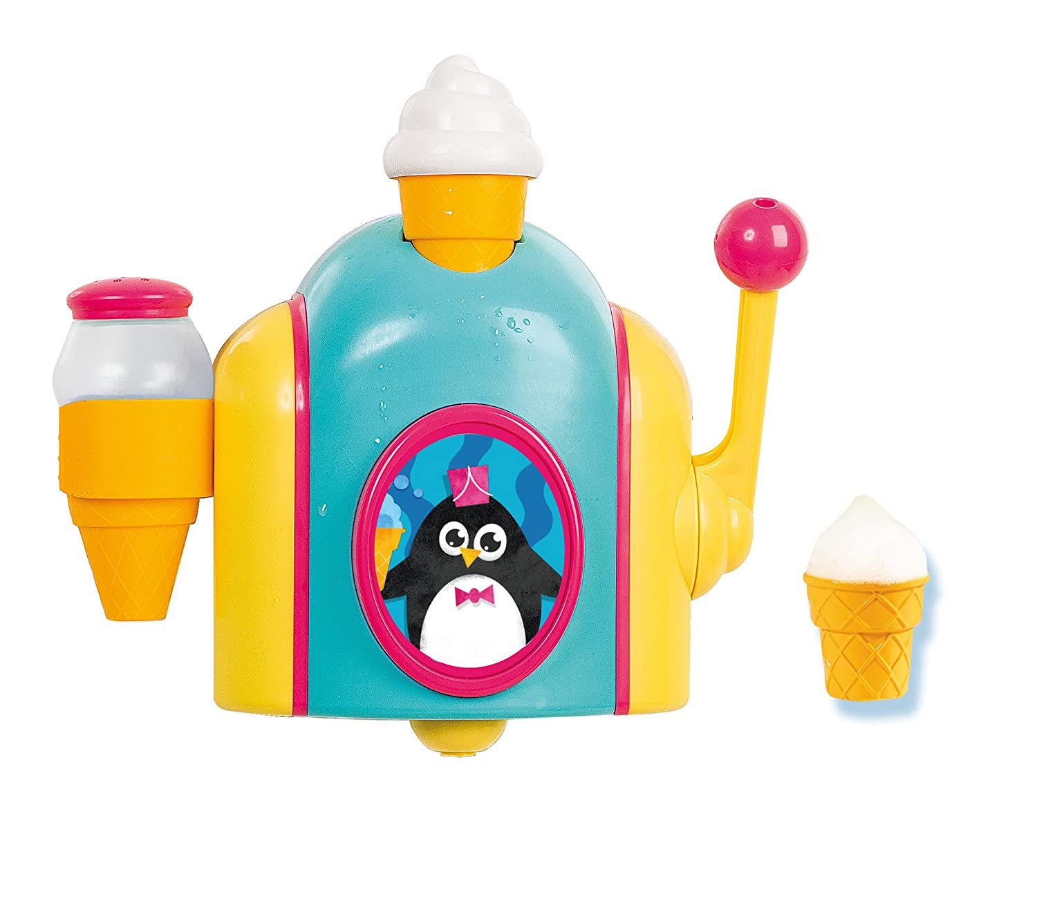 TOMY Toomies Foam Cone Factory – Ice Cream Themed Bubble Making Bath Toy – Suitable From 18 Months