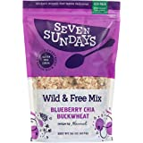 Seven Sundays Wild & Free Blueberry Chia Buckwheat Muesli Cereal {32oz Eco Pack, 1 Count} | Gluten Free | Non GMO | No…
