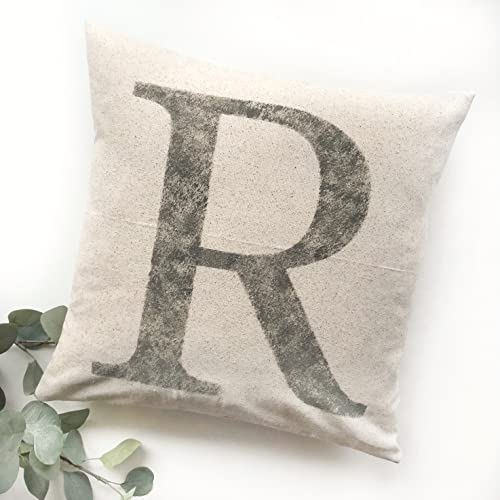 Amazon Initial Pillow Cover Rustic Letter Pillow Cover Fascinating Initial Pillow Covers