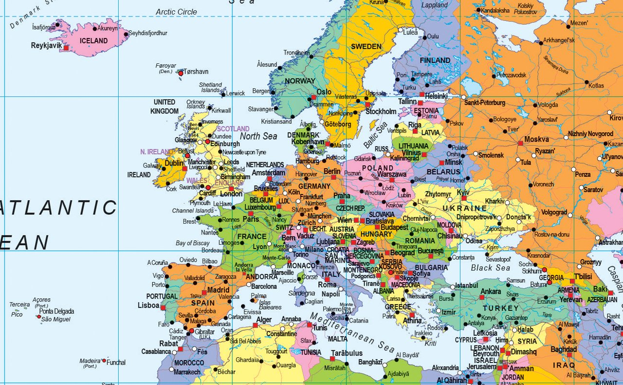 GM I Love Maps - A0 Vinyl World Map