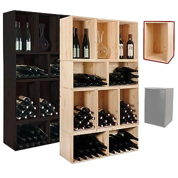 Étagère à vin / Caisse en nature pour le rangement du vin pour 18 ...