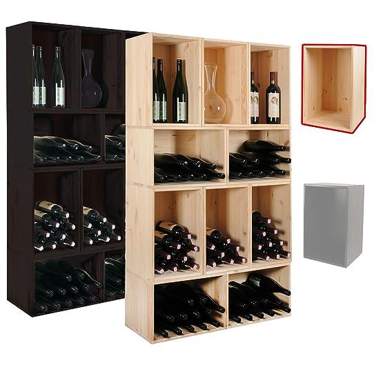 Assez Étagère à vin / Caisse en nature pour le rangement du vin pour 18  LE29