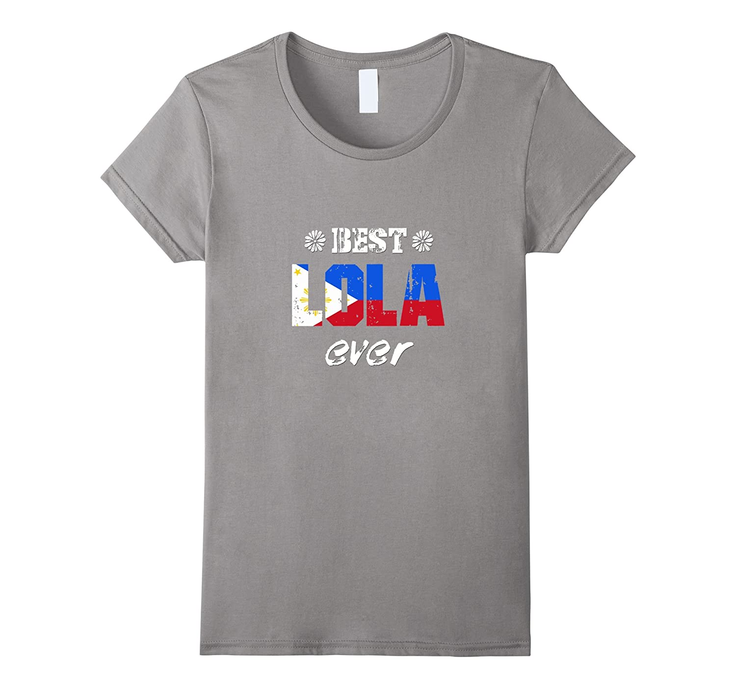 Womens Best Lola Ever Filipino Grandmother T-Shirt-Art