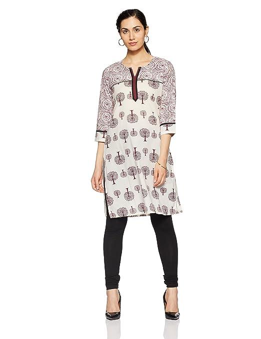 bd6bb486cb3 Rangmanch by Pantaloons Printed Women s A line Kurta Pink Best Price ...