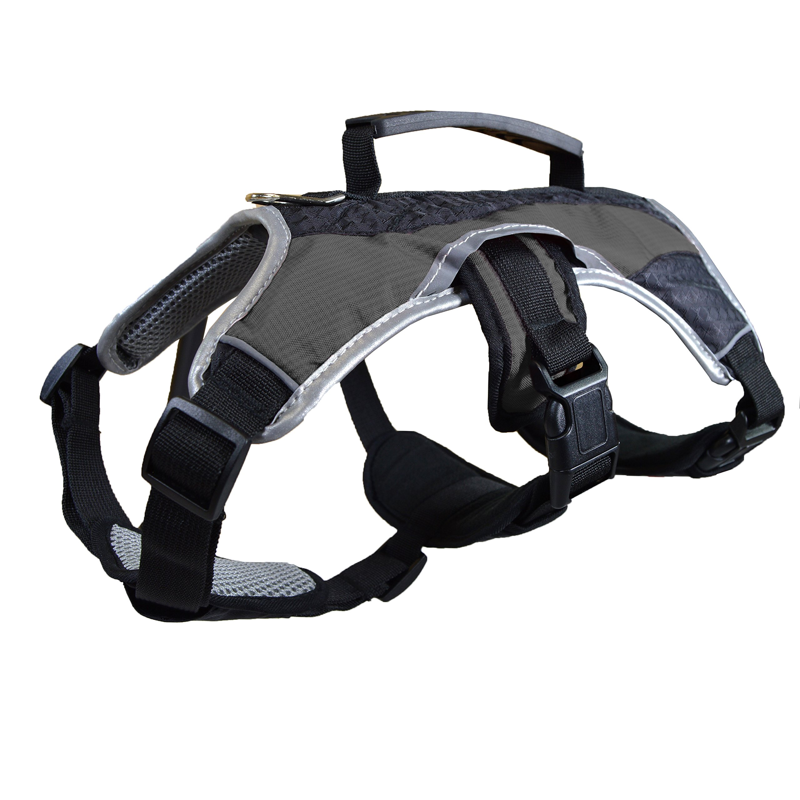 Dog Walking Lifting Carry Harness, Support Mesh Padded Vest, Accessory, Collar, Lightweight, No More Pulling, Tugging or Choking, for Puppies, Small Dogs (Black, X-Large), by Downtown Pet Supply