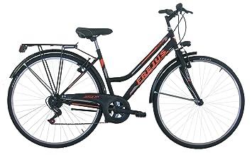Frejus Chelsea, vélo de ville Femme, Noir Orange , M  Amazon.fr ... 156e04b6667
