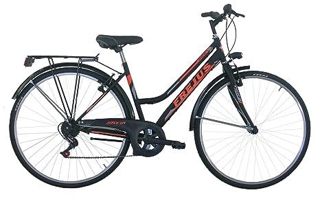 Frejus Chelsea Bicicletta Da Città Donna Neroarancione 28 Pollici M