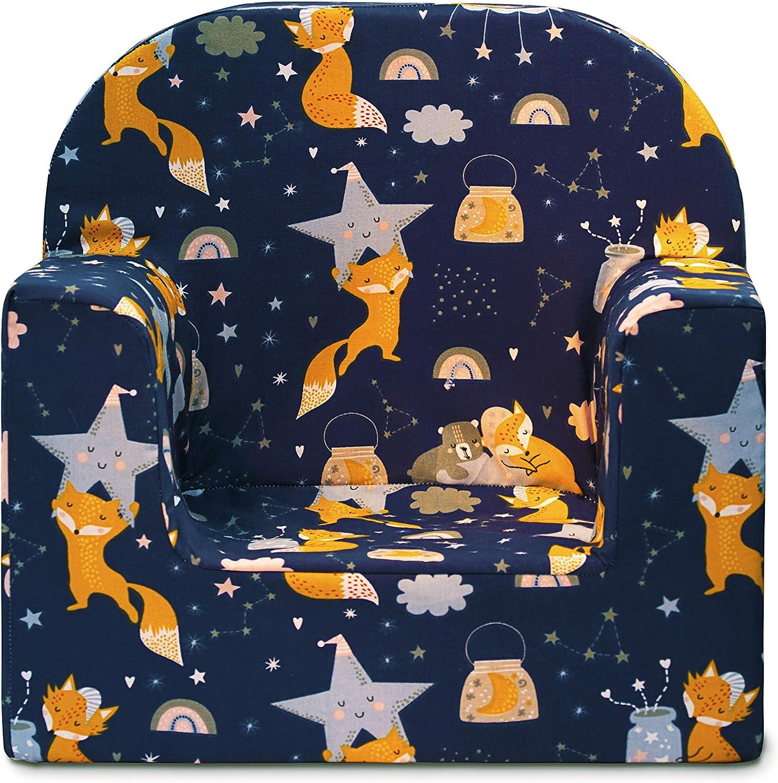 Molto Leggera Liocorno miwido Mini Poltrona per Bambini Poltrona Decorativa per Bambini Blu - Teepee