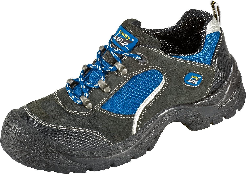noir-bleu Bouchon dacier Semelle PUR Antid/érapante Chaussures Protectrices S1 G/öhren Imitation des Chaussures Sportives 36 Cuir de Velours