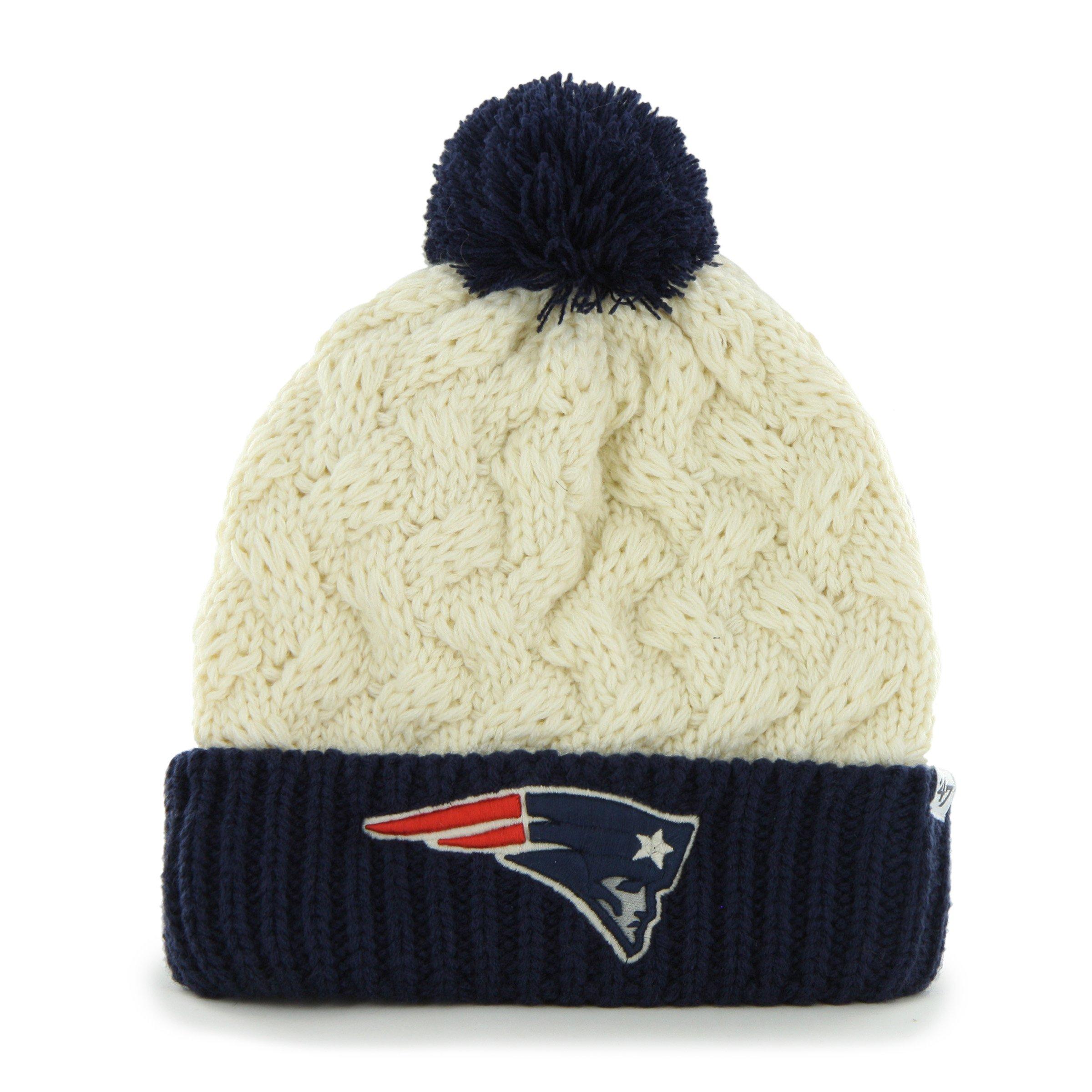 '47 NFL New England Patriots Women's Matterhorn Cuff Knit Hat, One Size, Natural