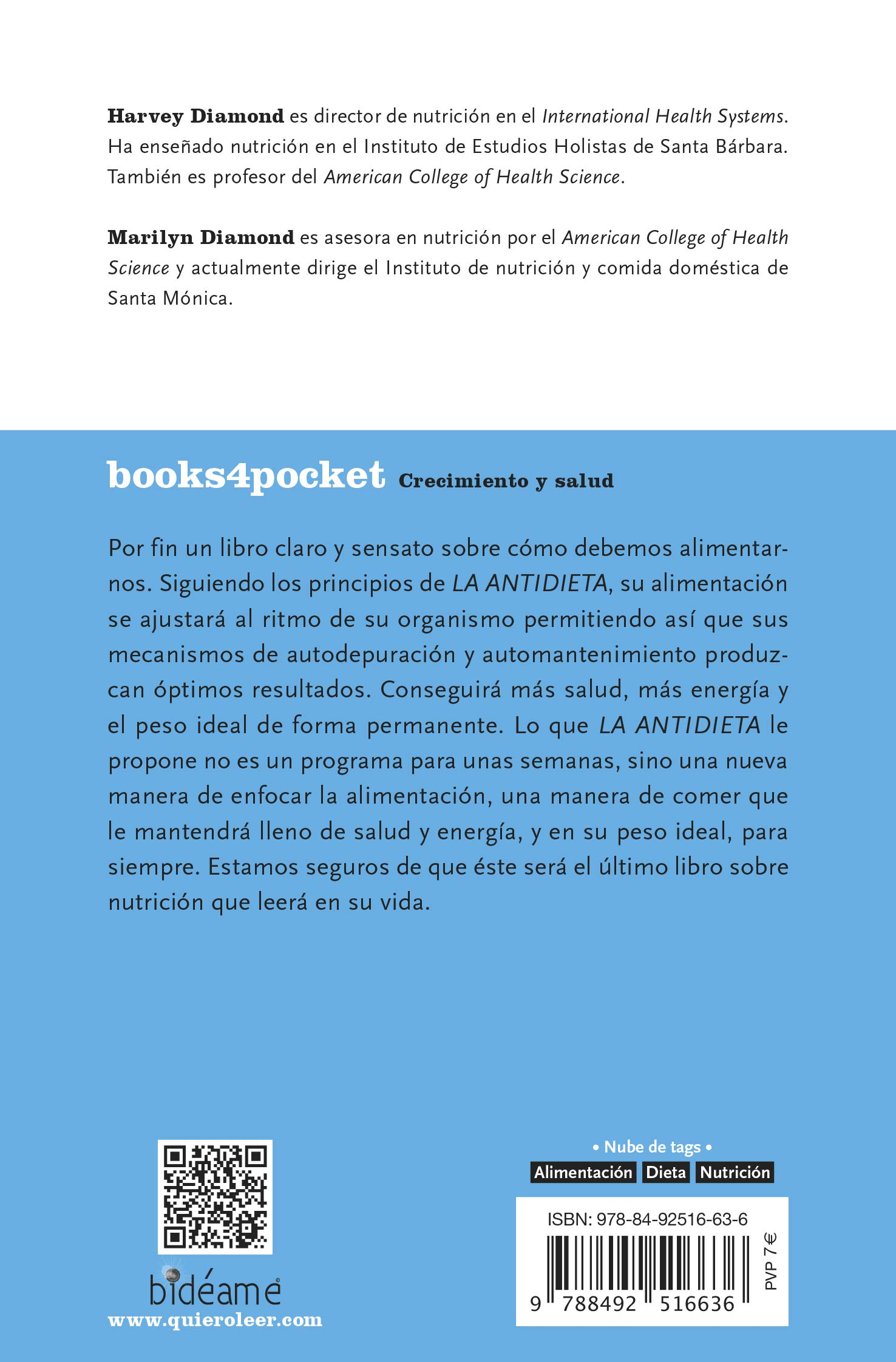 La antidieta (Books4pocket crec. y salud): Amazon.es: Harvey ...
